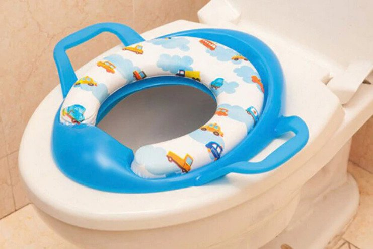 IKEA TOSSIG Baby Children Kid Toilet Bath Trainer Seat Potty,Easy To Fit /& Use