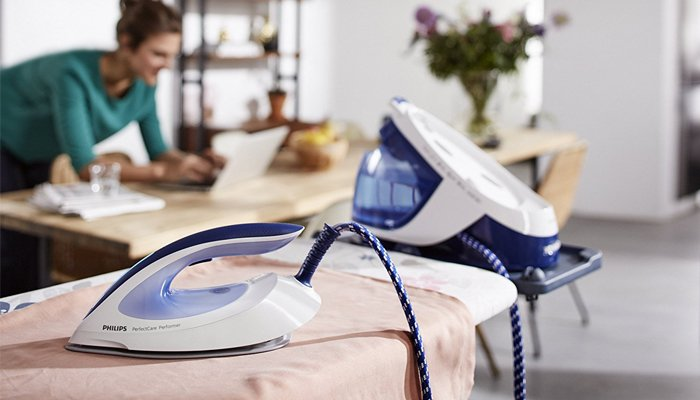 ironing board with steam generator
