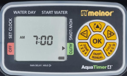water timer LCD screen