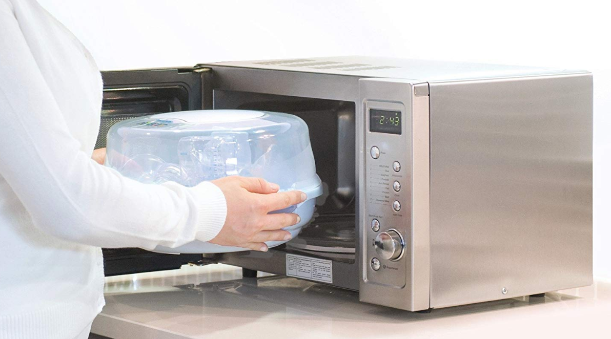 using microwave steriliser