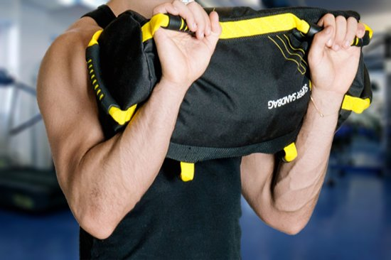 trainubg with weighted bag