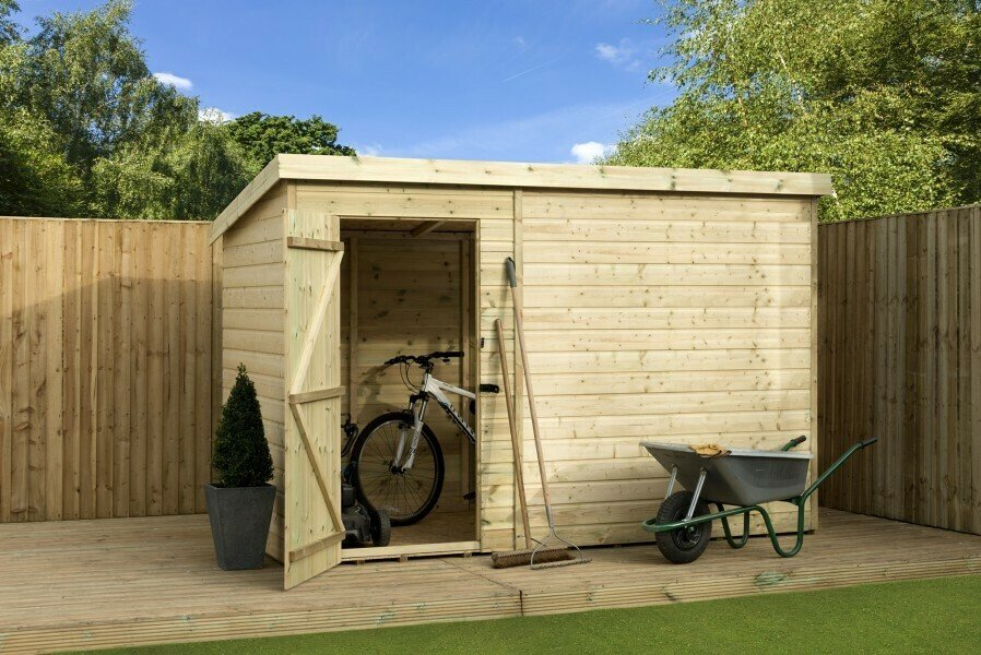 wooden garden shed
