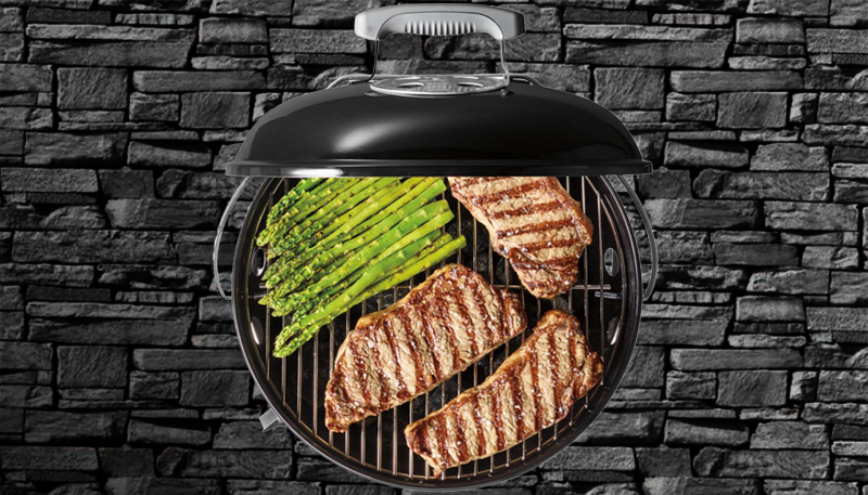 round charcoal bbq grill