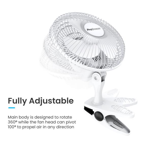 Pro Breeze Professional 6 inch Mini desk Fan
