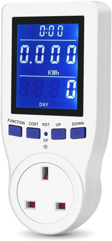 UK Plug Power Meter Energy Monitor
