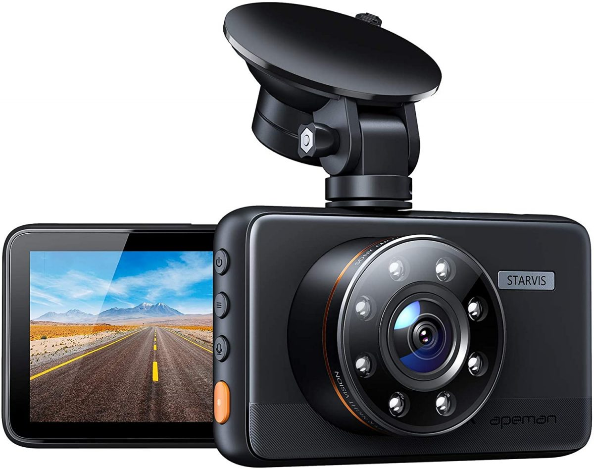 APEMAN Dash Cam with night vision