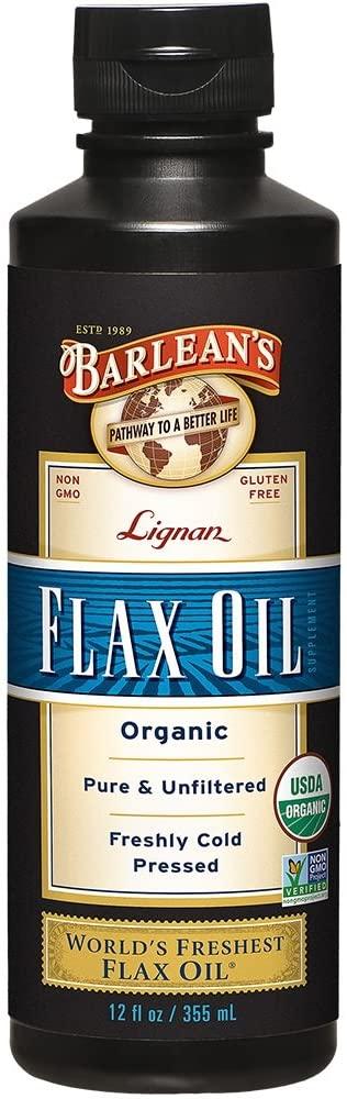 Barlean's, Organic Lignan Flax Oil