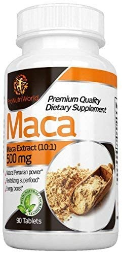 Maca Root Tablets 500mg by ProNutriWorld