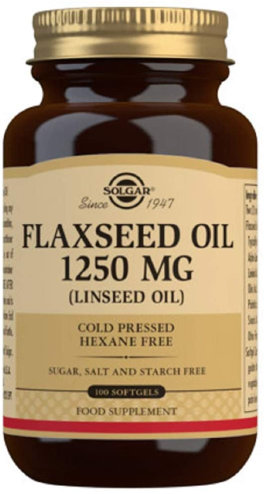 Solgar Flaxseed Oil 1250 mg Softgels