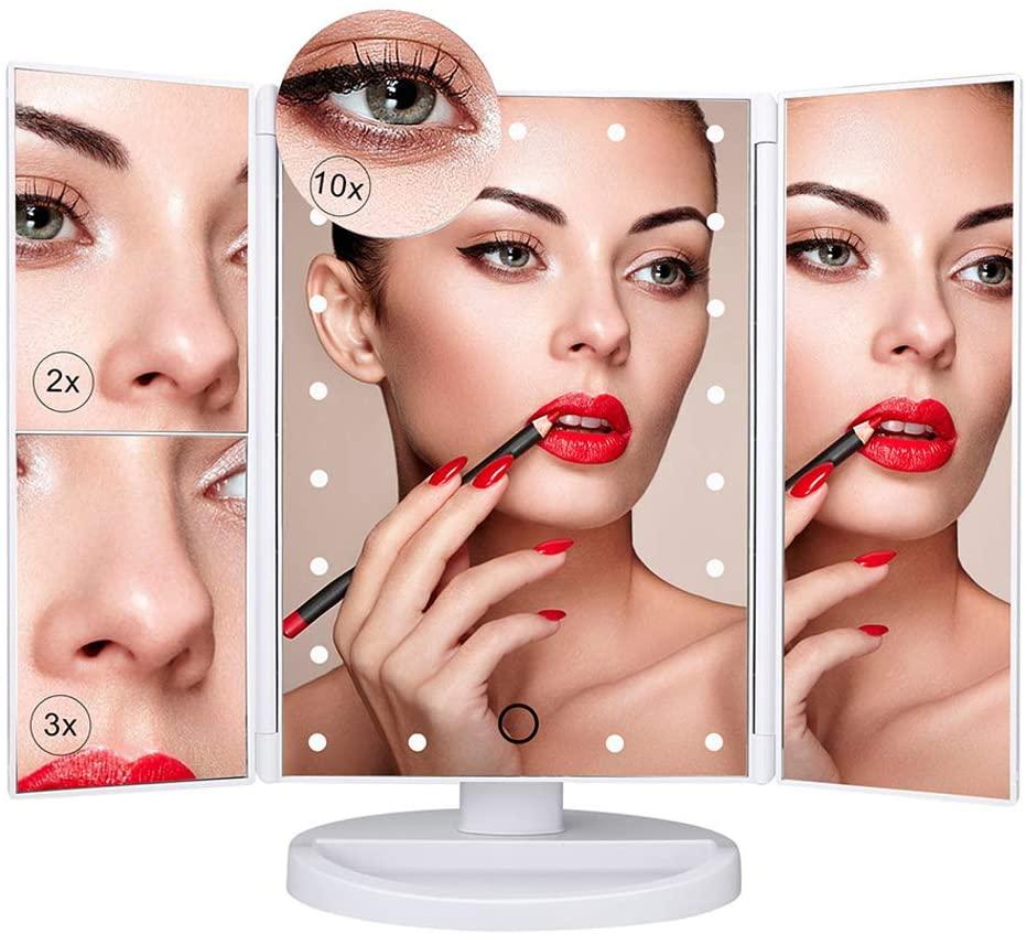 Nestling Makeup Mirror with LED Lights