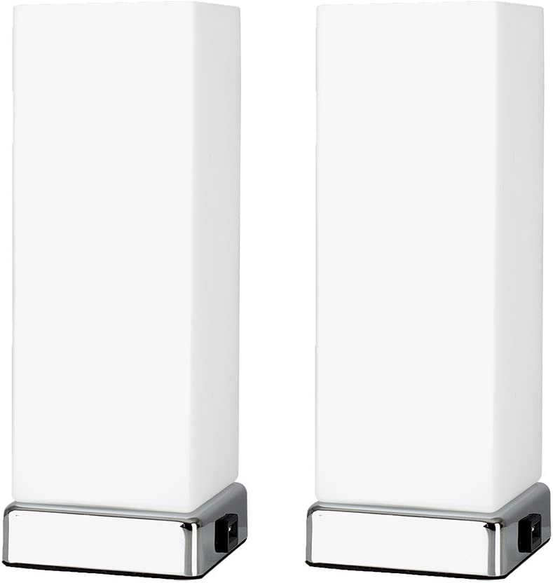 Pair of Modern Bedside Table Lamps