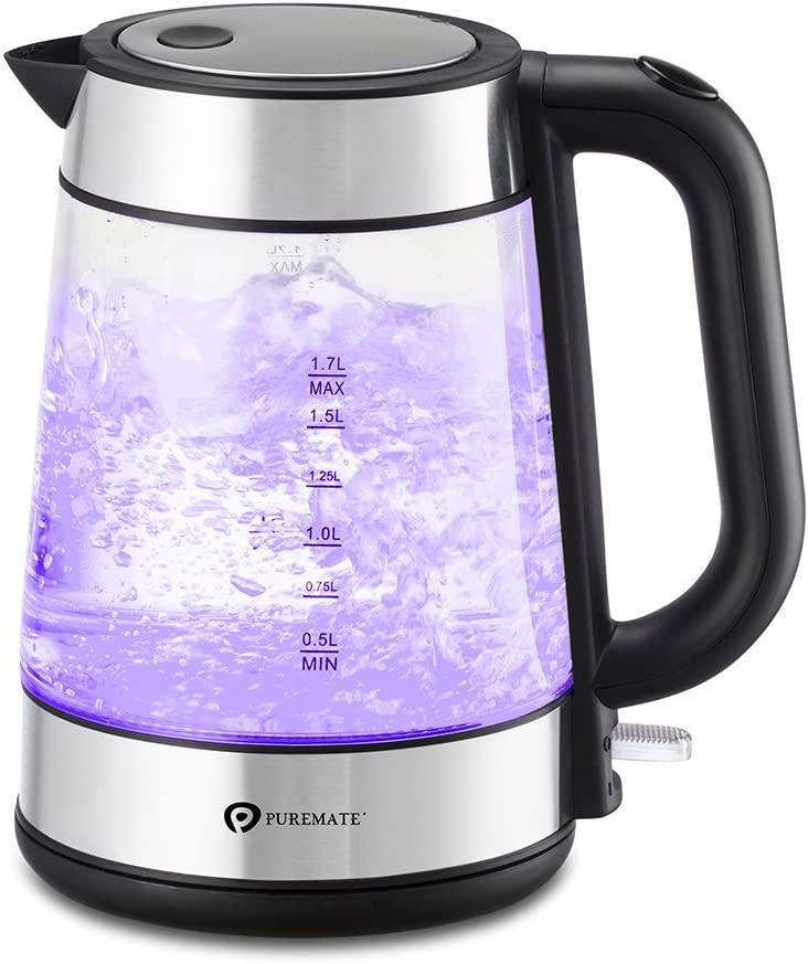 PureMate 3000W Cordless Electric Glass Kettle