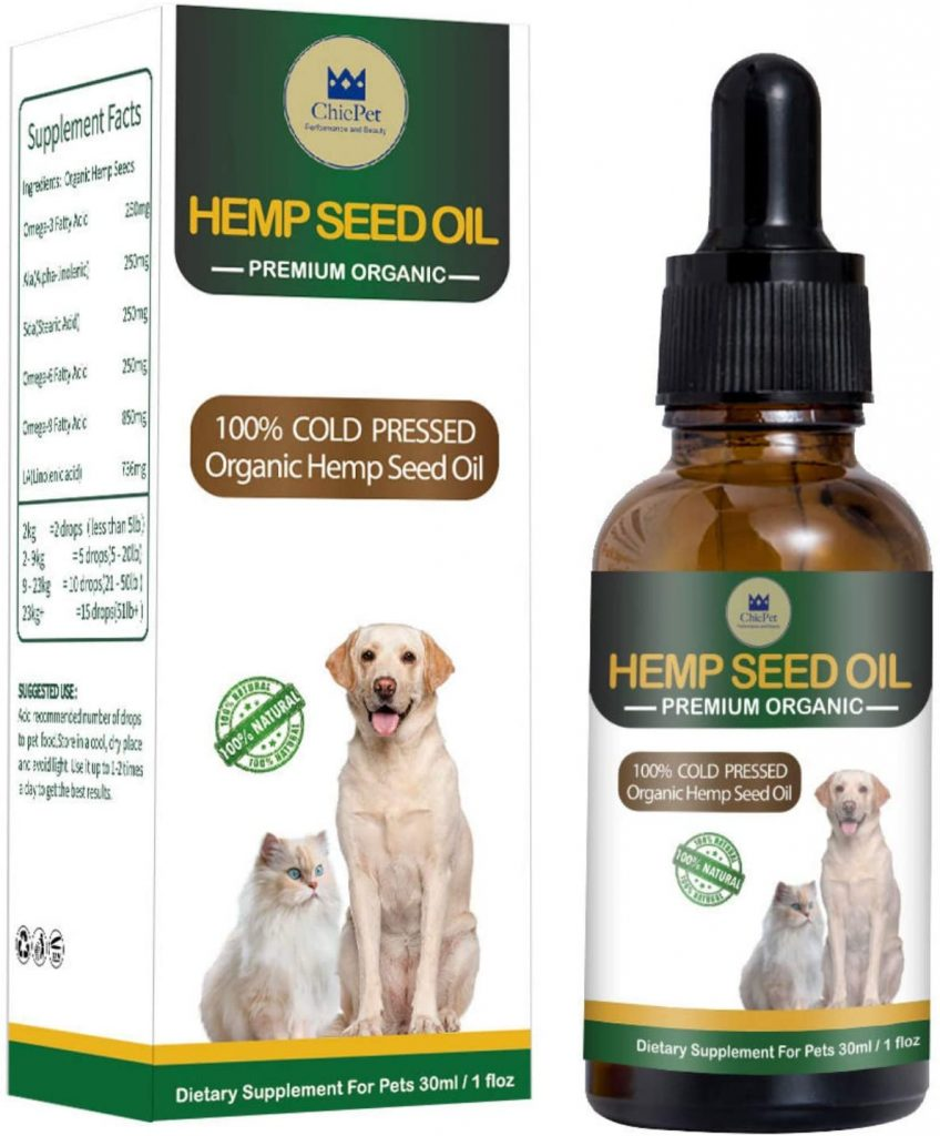 ChicPet UK Hemp Oil for Dogs, Cats and Pets