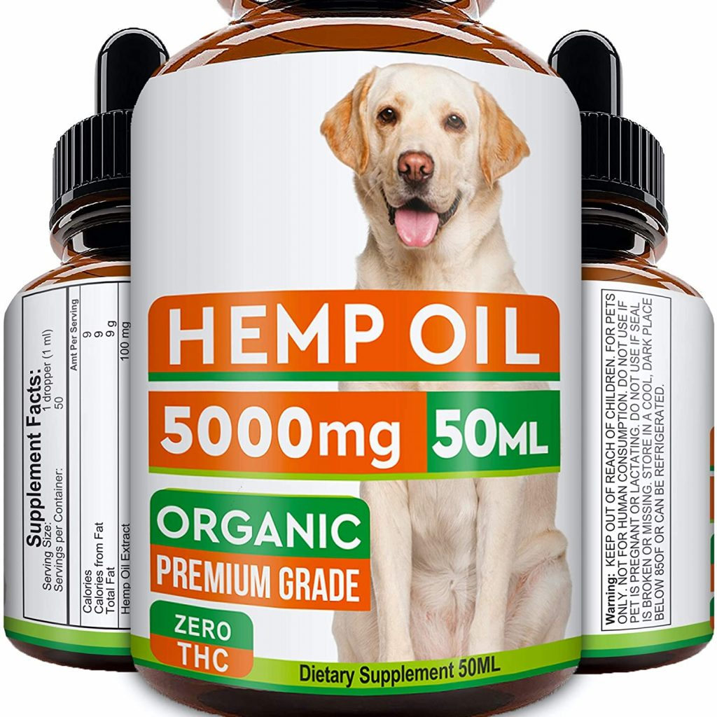 GOODGROWLIES Hemp Oil for Dogs and Cats - 5000MG