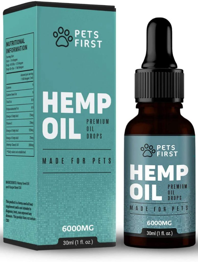 Hemp Seed Oil Drops for Dogs & Cats 3000mg