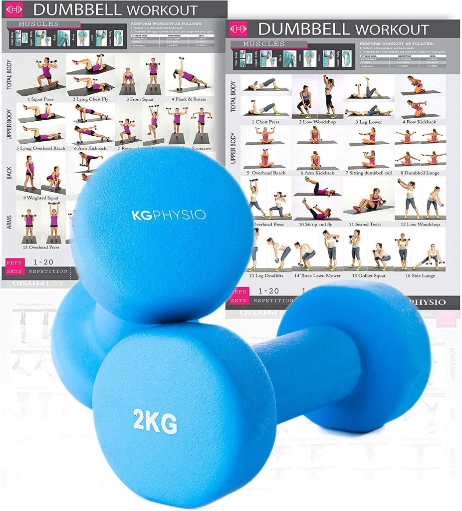 KG Physio Dumbbells Set Of 2
