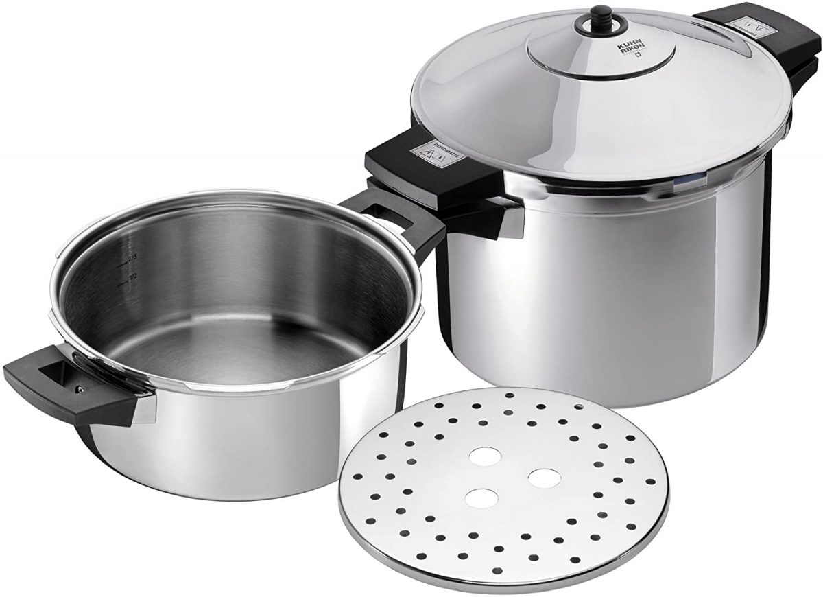 Kuhn Rikon Duromatic Inox Stainless Steel Pressure Cooker with Side Grips
