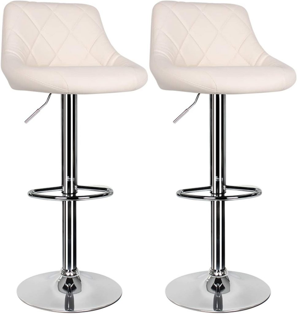2 pcs Cream Bar Stools for Kitchen
