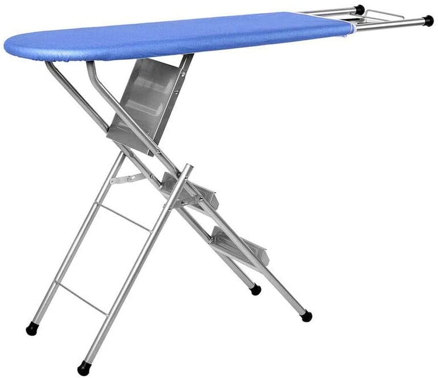 TJC Multi-function Foldable Ironing Board with Step Ladder