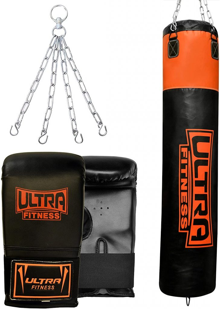 ULTRA FITNESS 4ft 5ft Heavy Filled Boxing Punch Bag set