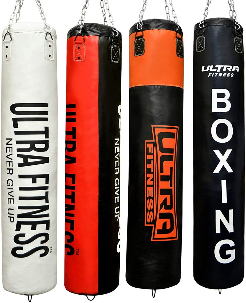 ULTRA FITNESS Heavy Filled 4ft 5ft Boxing Punch Bag
