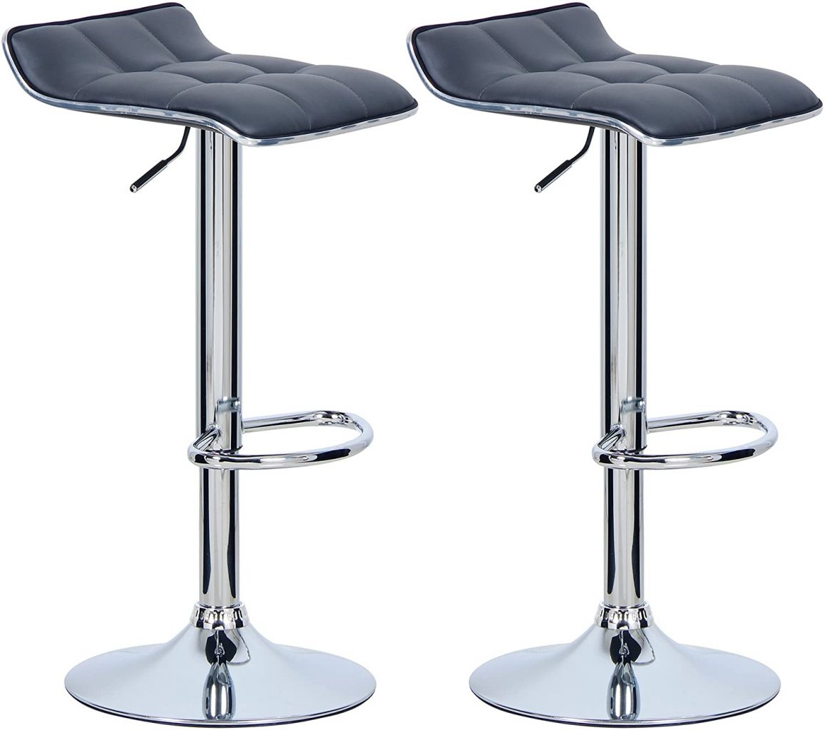 WOLTU Grey Breakfast Bar Chairs