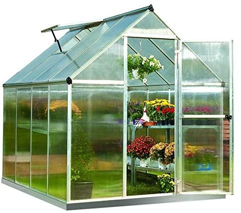 Palram Mythos 6x8 ft Silver Greenhouse