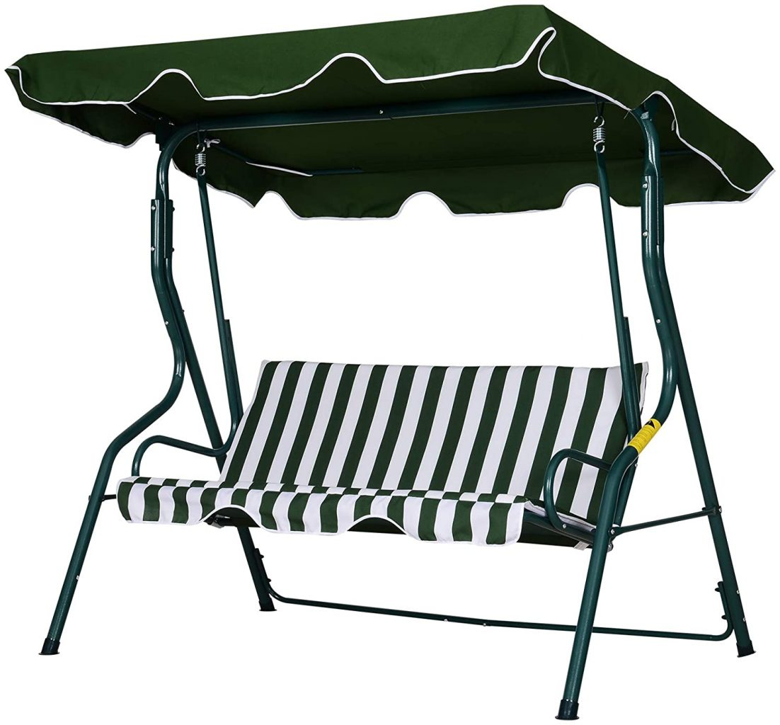 Outsunny 3 Seater Garden Swing