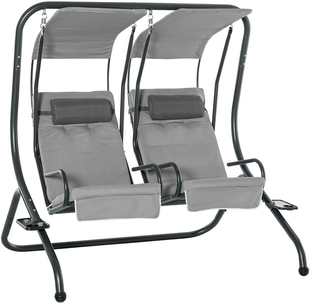 Outsunny Canopy Swing Modern Outdoor Relax Chairs