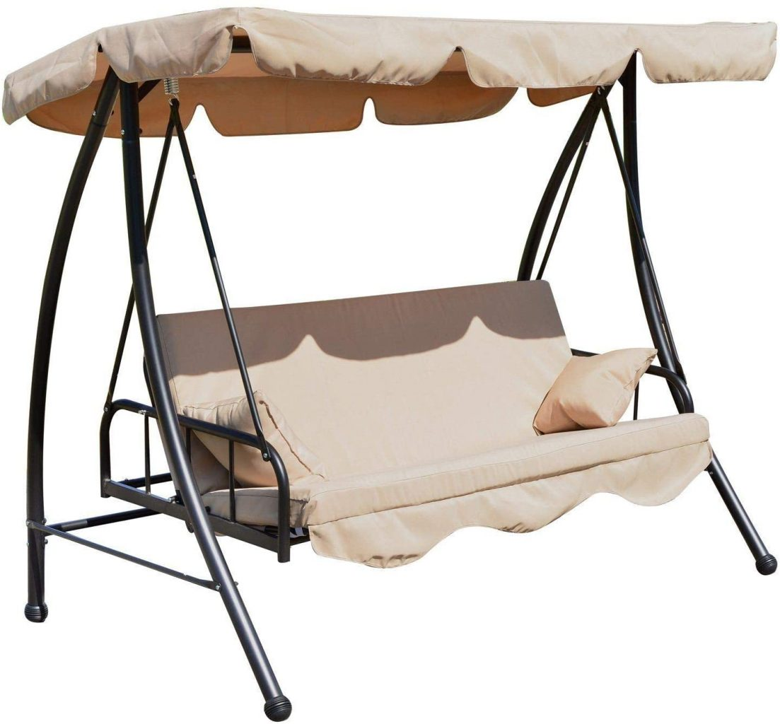 Outsunny Outdoor 2-in-1 Garden Swing and Bed