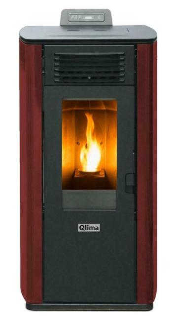 Qlima Fiorina 74 S-LINE Red Slim Pellet stove